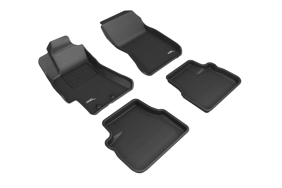 3D MAXpider KAGU Floor Liners Black - Subaru WRX / STI 2008 - 2014