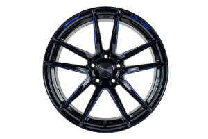 WedsSport RN-55M 5x100 Black Blue Machine - Universal