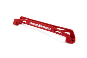 GrimmSpeed Lightweight Battery Tie Down Red - Subaru Models (inc. 2002+ WRX/STI)