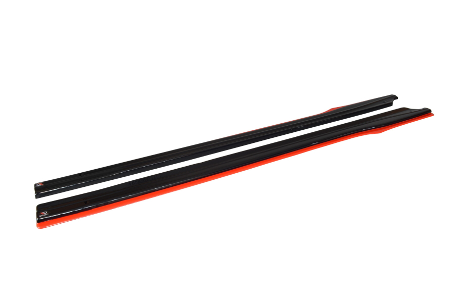 Maxton Design Redline Gloss Black Side Skirt Diffusers (Part Number:BRZ1FRDSD1G)
