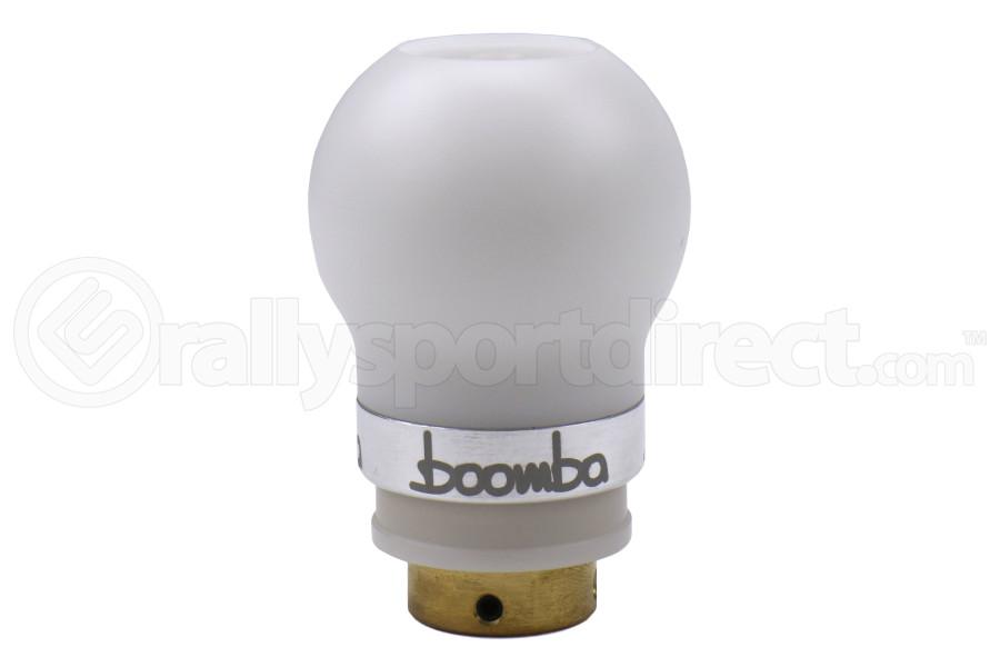Boomba Racing Delrin Short Throw Shift Knob White / Natural Aluminum - Volkswagen GTI 2010+ / Golf R 2016+