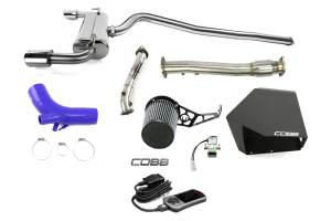 COBB Tuning Stage 3 Power Package w/Cat Back Exhaust Blue - Mitsubishi Evo X 2008-2015