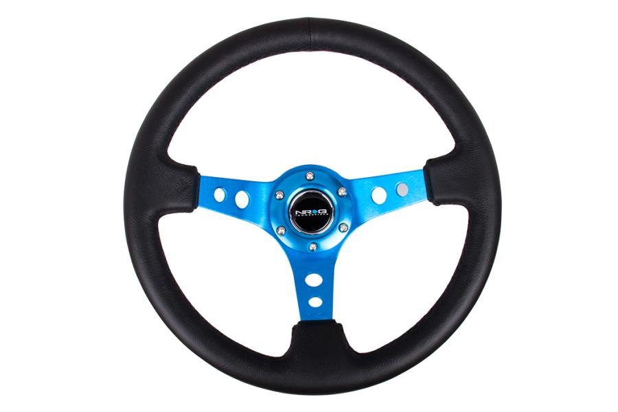 NRG Reinforced Steering Wheel 350mm 3in Deep Blue - Universal