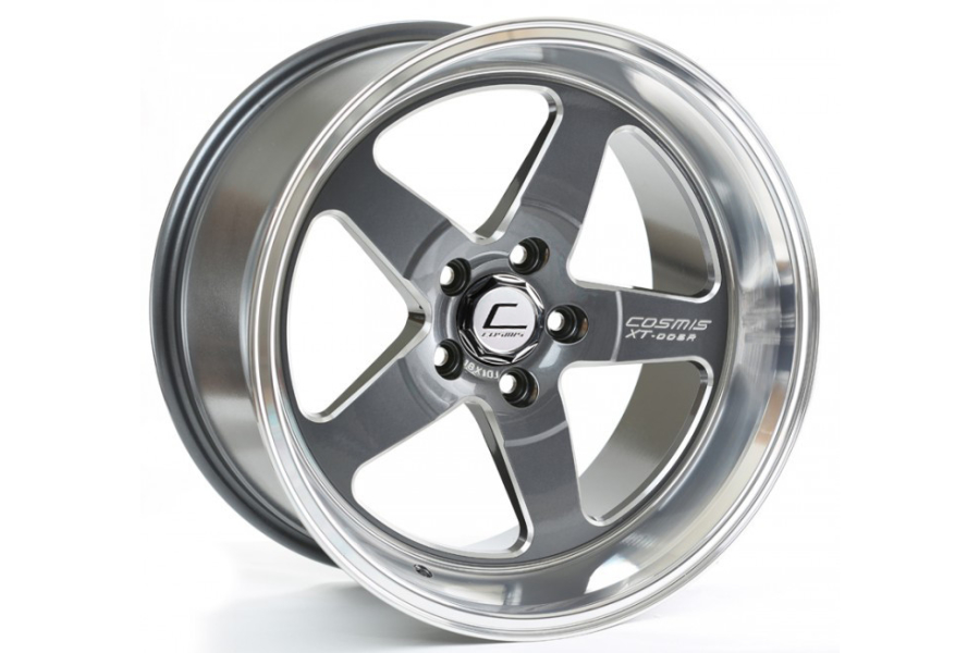 Cosmis Racing Wheels XT-005R 18x9 +25 5x120 Gunmetal w/ Machined Lip - Universal