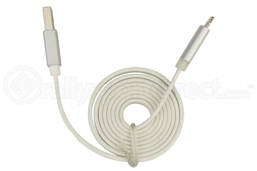 Scosche FlatOut Lightning to USB Cable w/Charge LED 3ft White - Universal