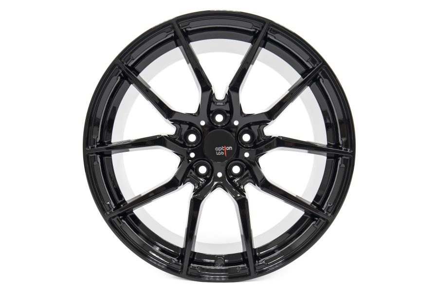 Option Lab Wheels R716 18x8.5 +35 5x114.3 Gotham Black - Universal
