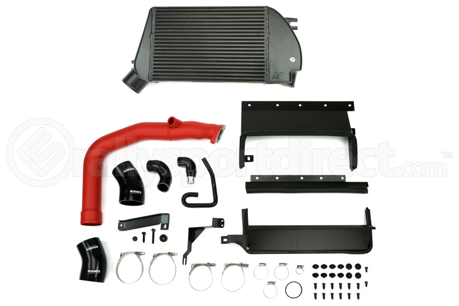 Mishimoto Performance Top-Mount Intercooler w/Charge Pipe Red/Wrinkle Black (Part Number:MMTMIC-WRX-15RBK)