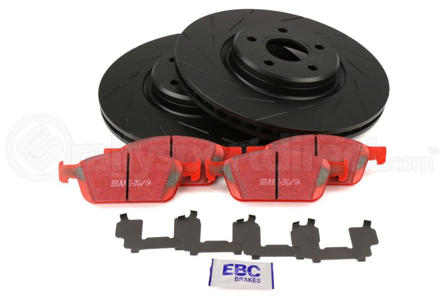 EBC Brakes S4 Front Brake Kit Redstuff Pads and USR Rotors - Ford Focus ST 2013