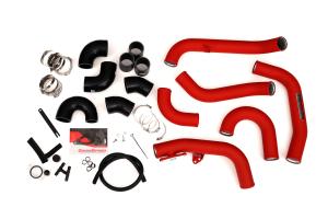 GrimmSpeed Front Mount Intercooler Kit Silver Core w/ Red Piping - Subaru STI 2015 - 2020
