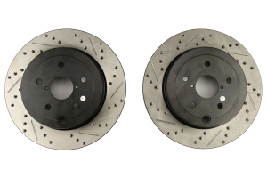 Stoptech Drilled and Slotted Rotor Pair Rear (Part Number: )