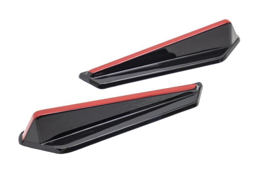 OLM Gloss Black Redline JDM Style Canards - Subaru WRX / STI 2015+