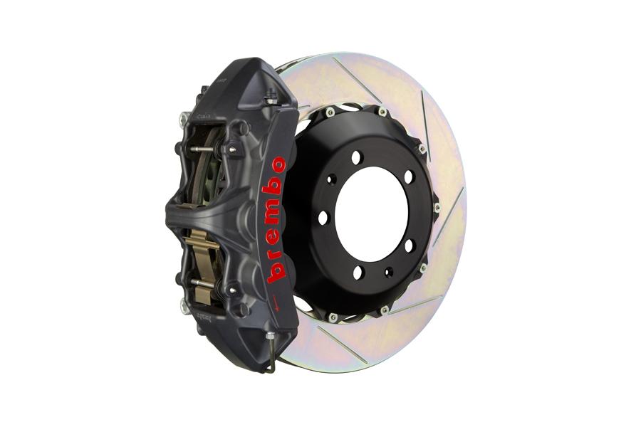 Brembo GT-S System 6 Piston Front Brake Kit Hard Anodized Slotted Rotors - Volkswagen Models (inc. 2015+ GTI)