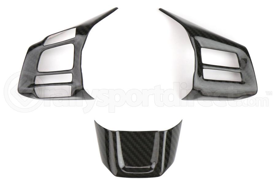 OLM S-line Dry Carbon Fiber Steering Wheel Covers - Subaru WRX / STI 2016+