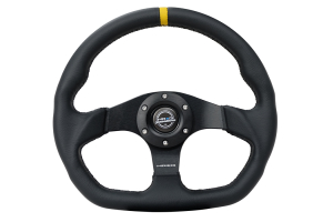 NRG Innovations Reinforced Flat Bottom Steering Wheel - 320mm (Multiple Color Options) - Universal