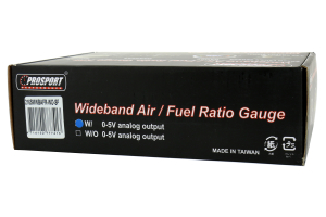 ProSport Wideband Air Fuel Ratio Gauge w/O2 Sensor Blue/White 52mm (Part Number: )