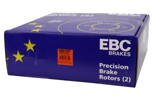 EBC Brakes USR Series Sport Slotted Rear Brake Rotors - Subaru STI 2004