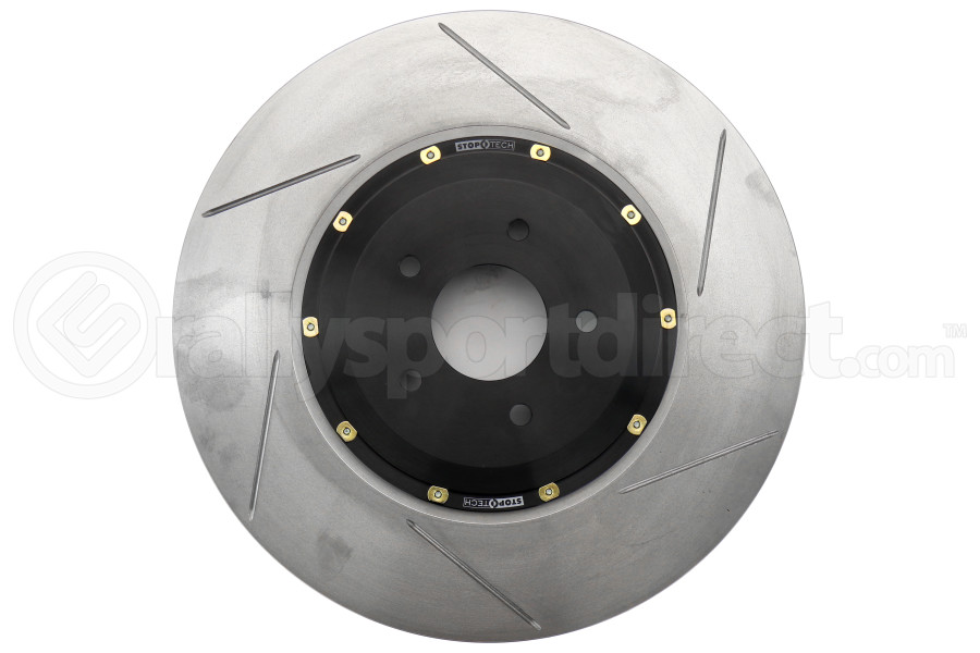 Stoptech 2 Piece AeroRotor and Hat 380x34 Slotted Right Front - Nissan GT-R 2009+