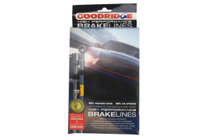 GoodRidge G-Stop Stainless Steel Brake Lines Front/Rear (Part Number: )