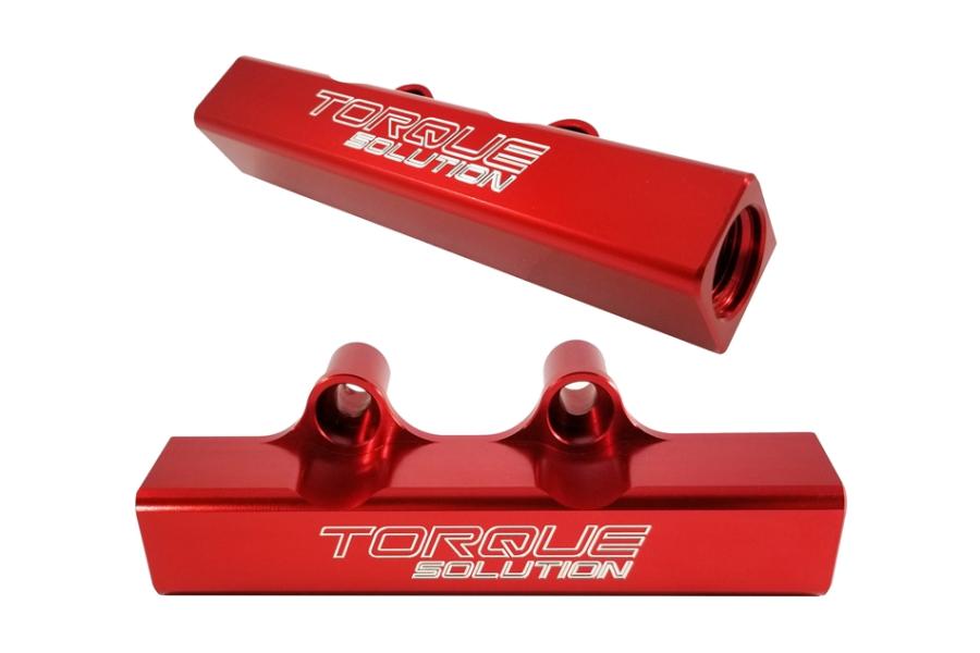 Torque Solution Top Feed Fuel Rails Red - Subaru WRX 2002-2014 / STI 2007+