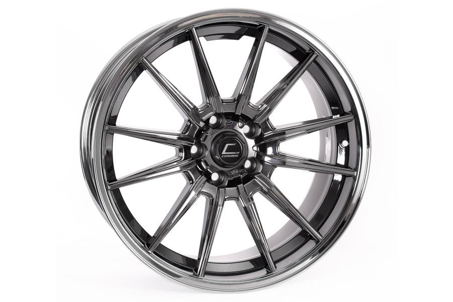 Cosmis Racing Wheels R1 18x8.5 +35 5x114.3 Black Chrome - Universal