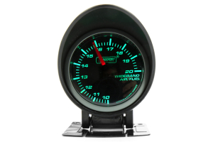 ProSport Wideband Air Fuel Ratio w/O2 Sensor Green/White 52mm ( Part Number:PRS 216SMWGAFR-WO-SF)