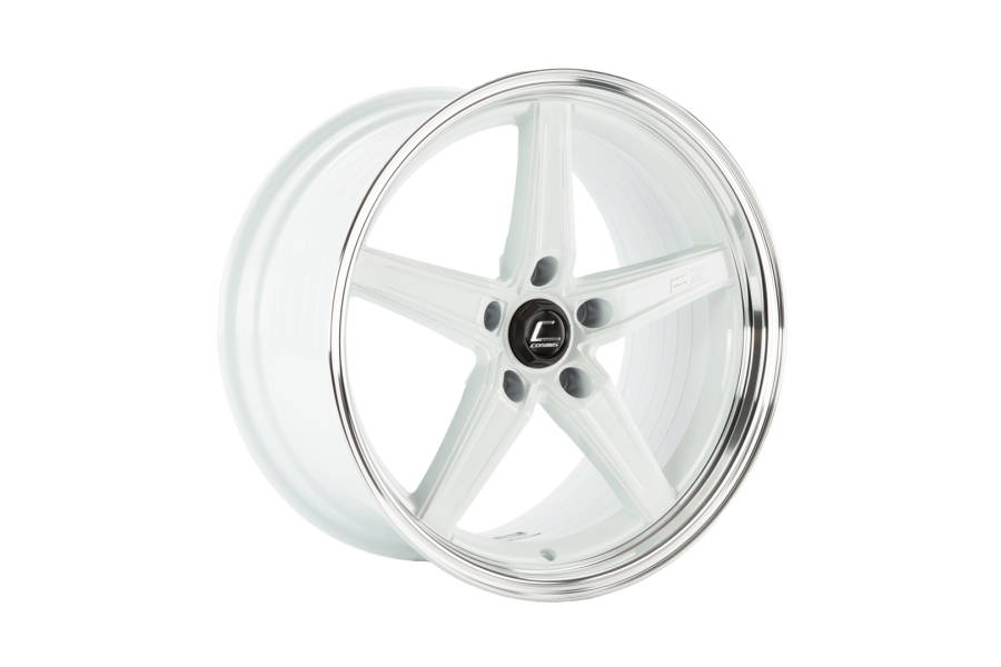 Cosmis Racing Wheels R5 18x10.5 +22 5x120 White w/ Machined Lip - Universal