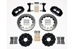 Wilwood FNSL6R 13.06in Front Kit Drilled / Slotted Black - Mitsubishi Evo 8/9 2003-2006