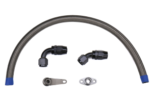 Torque Solution -10AN Turbo Oil Return Line Kit - Subaru Models (Inc. WRX 2002-2014 / STI 2004+)