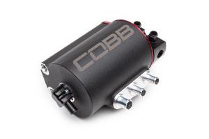 COBB Tuning Air Oil Separator Black/Red - Subaru Models (inc. 2008-2020 STI / 2008-2014 WRX)