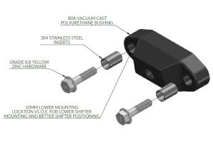FactionFab Rear Shifter Bushing - Subaru Models (inc. 2002-2014 WRX / 2004+ STI)