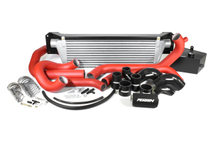 PERRIN Front Mount Intercooler Kit Red Piping/Silver Core ( Part Number:PER2 PSP-IP-438-SRB)