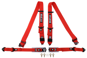 Sparco Belt 3/2 Inch 4-Point Pull-Up Harness Red - Universal