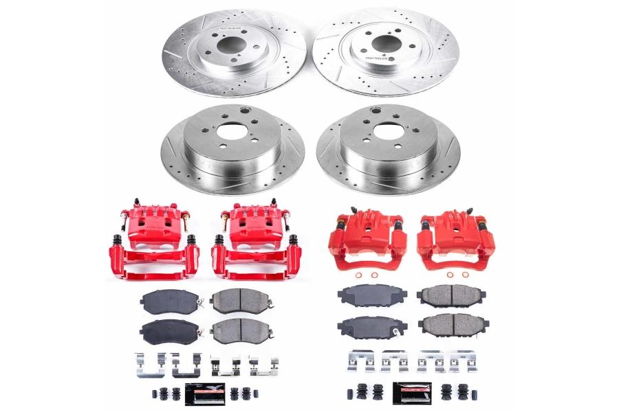 Power Stop Z23 Evolution Coated Brake Kit w/ Calipers Front and Rear - Subaru Models (inc. 2014-2018 Forester / 2013-2017 Crosstrek)