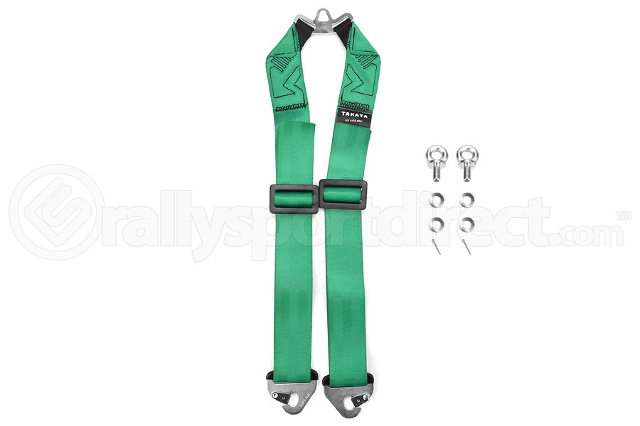 Takata RACE 6-Point Sub-Strap (T-Bar) Green (Part Number:79000-H2)