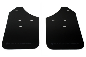 Rally Armor UR Mudflaps Black Urethane Grey Logo ( Part Number:RAL MF1-UR-BLK/GRY)