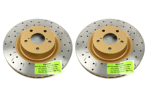 DBA 4000 Series Drilled/Slotted Rotor Pair Front  ( Part Number: 4650XSG)