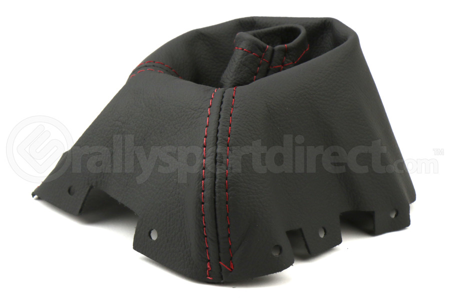 AutoStyled Black Leather Shift Boot w/ Red Stitching Short Shifter - Subaru STI 2008-2014