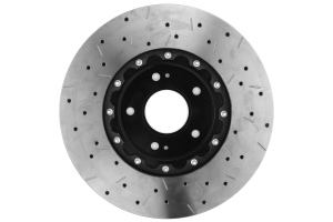 DBA 5000 Series Drilled/Slotted Rotor Single Front Black (Part Number: )