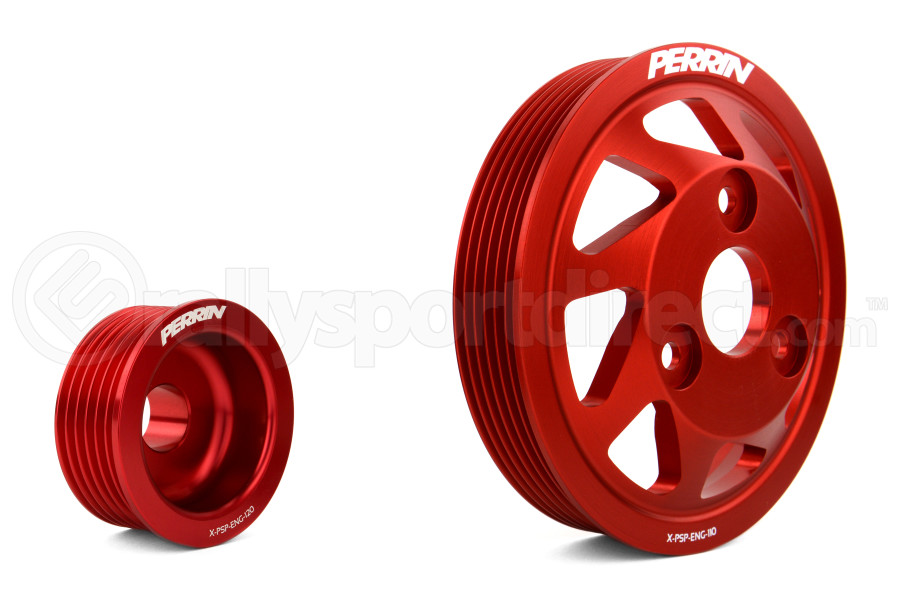 PERRIN Lightweight Accessory Pulley Kit Red (Part Number:PSP-ENG-120RD)