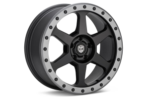 LP Aventure LP3 Wheel 17x8 +38 5x100 Black w/ Grey Ring - Universal