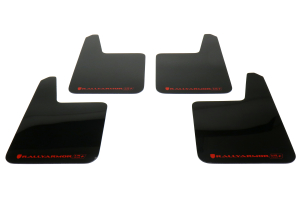 Rally Armor UR Plus Universal Mud Flaps Black Urethane Red Logo (Part Number: )