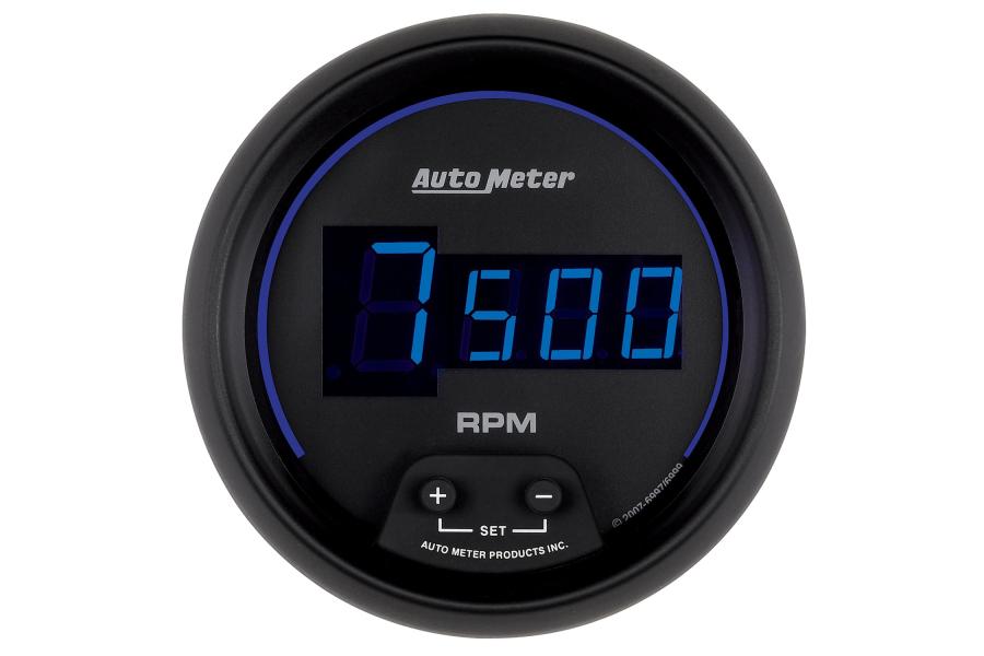 Autometer Cobalt In-Dash Tachometer Digital Blue Led 3-3/8in - Universal