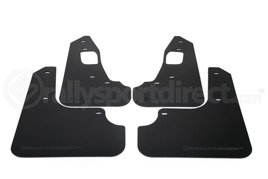 Rally Armor UR Mudflaps Black Urethane Grey Logo ( Part Number:RAL MF10-UR-BLK/GRY)