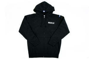 Sparco Zip WWW Hooded Sweatshirt (Black / Brown / Grey) ( Part Number: SP04100)