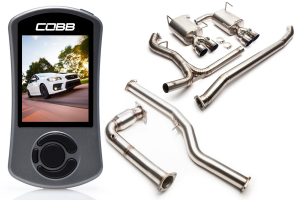 COBB Tuning Subaru Stage 2 Power Package Titanium Non-Resonated - Subaru WRX 2015+