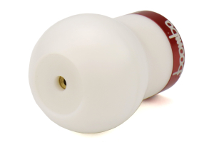 Boomba Racing White Delrin Shift Knob w/Red Trim (Part Number: )