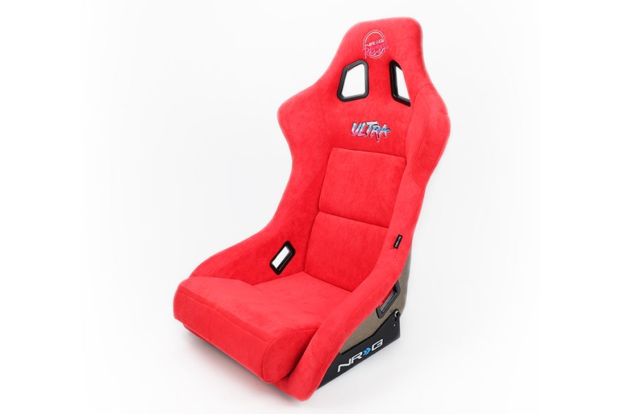 NRG Innovations FRP ULTRA Large Competition Alcantara Seat Red - Universal