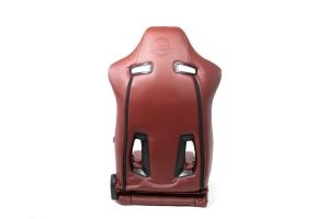 NRG Innovations The Arrow PVC Sports Seats Maroon w/ Maroon Stitching (Pair) - Universal