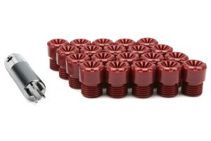 KICS R40 Iconix Plastic Caps Red M12X1.25 (Part Number: )