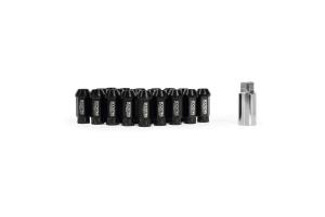 Mishimoto Rockstar Aluminum Locking Lug Nuts Black 12x1.5 - Universal